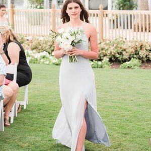 Jenny Yoo Whisper Blue Chiffon Bridesmaid Dress